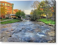 An Hdr Image Of The Reedy River In Downtown Greenville Sc Acrylic Print