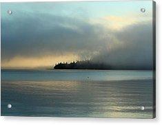 An Island In Fog Acrylic Print