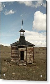 An Old Montana School House  Acrylic Print by Jeff Swan