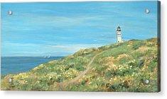 Anacapa Lighthouse Study Acrylic Print by Tina Obrien