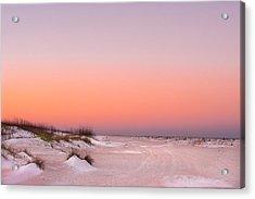 Anastasia Beach Sunset Acrylic Print