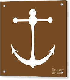 Anchor In Brown And White Acrylic Print