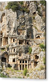 Ancient City Of Myra Acrylic Print by David Parker