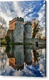 Ancient Whittington Castle In Shropshire England Acrylic Print