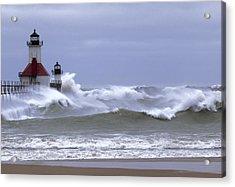 Angry Lake Michigan  Acrylic Print