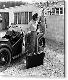 Anne Gunning Parker With A Man Acrylic Print
