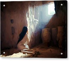 Annunciation Of Mary Acrylic Print by Ric Darrell