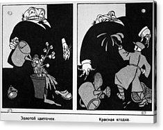 Anti-capitalist Cartoon Acrylic Print by Granger