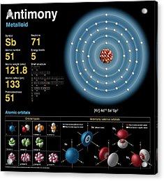 Antimony Acrylic Print by Carlos Clarivan