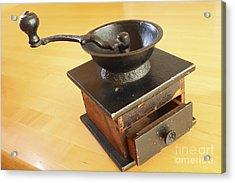 Antique Coffee Grinder Acrylic Print by John Van Decker