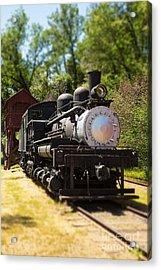 Antique Locomotive Acrylic Print by Jane Rix