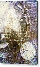 Antique Mirror And Clock Acrylic Print by Suzanne Powers