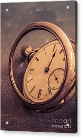 Antique Pocket Watch Acrylic Print by Edward Fielding