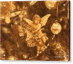 Acrylic Print featuring the photograph Antiqued Angel Gold by Roxy Riou