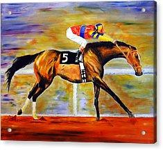 Acrylic Print featuring the painting Ap Indy by Jennifer Godshalk