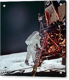 Apollo 11 Moon Landing Acrylic Print by Image Science And Analysis Laboratory, Nasa-johnson Space Center