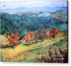 Appalachian Autumn Acrylic Print by Mary Lynne Powers