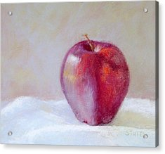 Apple Acrylic Print by Nancy Stutes