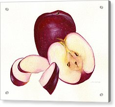 Acrylic Print featuring the painting Apples To Apples by Nan Wright