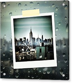 April In Nyc Acrylic Print