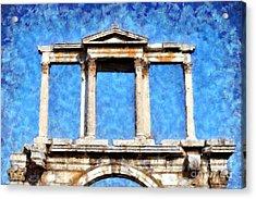Arch Of Hadrian Acrylic Print by George Atsametakis