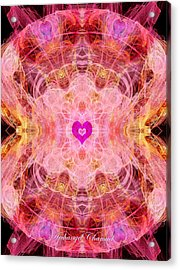Archangel Chamuel Acrylic Print by Diana Haronis