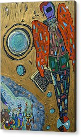 Acrylic Print featuring the mixed media Archangel Raguel by Clarity Artists