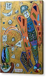 Acrylic Print featuring the mixed media Archangel Zadkiel by Clarity Artists