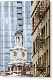 Architecture Of Portland, Oregon Acrylic Print by William Sutton