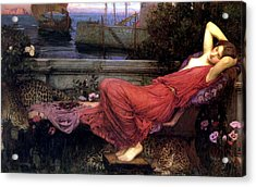 Ariadne Acrylic Print by John William Waterhouse