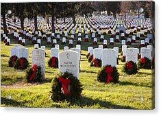Arlington Cemetery Wreaths Acrylic Print