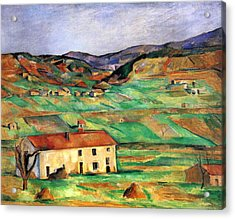 Around Gardanne By Cezanne Acrylic Print by John Peter
