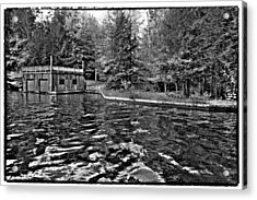 Arrowhead Park Waterway In Inlet New York Acrylic Print by David Patterson