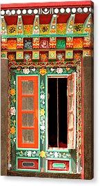 Art In Buddhist Monastery Architecture Acrylic Print by Jaina Mishra