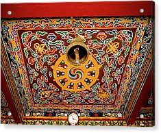 Art In The Architecture Of A Buddhist Acrylic Print by Jaina Mishra
