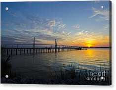 Acrylic Print featuring the photograph Sunset Over The Charleston Waters by Dale Powell