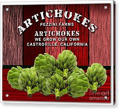 Artichokes Farm Acrylic Print