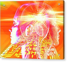 Artificial Intelligence Acrylic Print by Alfred Pasieka/science Photo Library