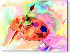 Artist Palette Acrylic Print