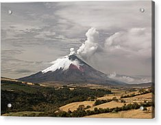 Ash Plume Rising From Cotopaxi Volcano Acrylic Print by Dr Morley Read