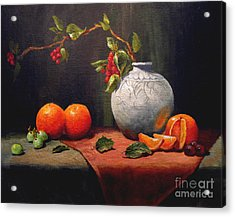Acrylic Print featuring the painting Asian Vase by Carol Hart
