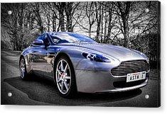 Aston Martin V8 Vantage Acrylic Print by Ian Hufton