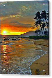 At The Beach Life Passes Differently Acrylic Print