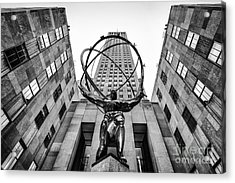 Atlas At The Rock Acrylic Print by John Farnan