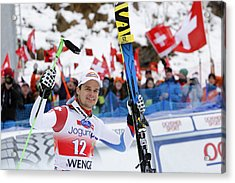 Audi Fis World Cup - Men's Downhill Acrylic Print by Alexis Boichard/Agence Zoom