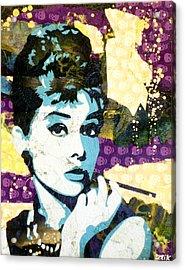 Audrey All Day Acrylic Print by Bobby Zeik
