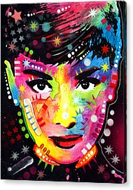 Acrylic Print featuring the painting Audrey Hepburn by Dean Russo