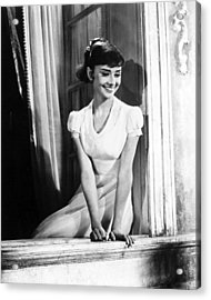 Audrey Hepburn Acrylic Print by Silver Screen
