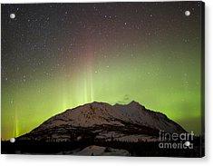 Aurora Borealis And Milky Way Acrylic Print by Joseph Bradley