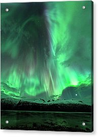 Aurora Borealis During Geomagnetic Storm Acrylic Print by Tommy Eliassen